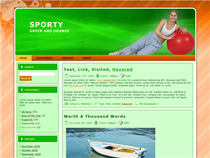 Green Sporty wordpress theme